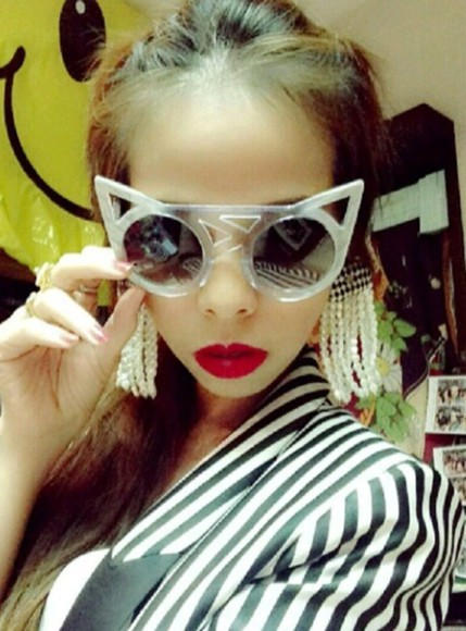 sun sunglasses summer red redlipstick ploy cateye sunglasses swagger