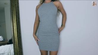dress grey bodycon dress body con