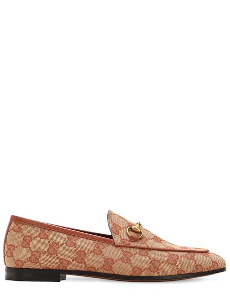 GUCCI 10mm Jordan Gg Supreme Canvas Loafers in beige / beige