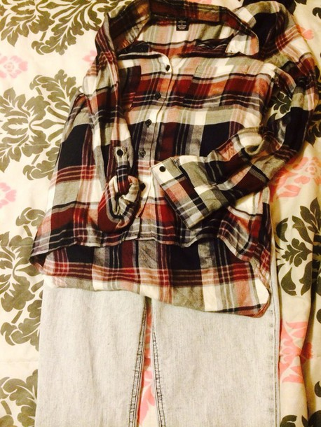 blouse plaid