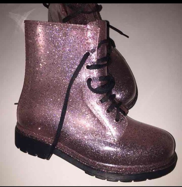 shoes boots pink glitter glitter shoes