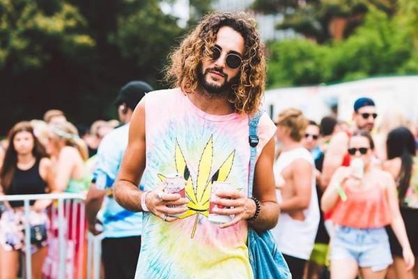 tank top weed festival hipster hippie colorful tie dye diy rainbow drugs bracelet