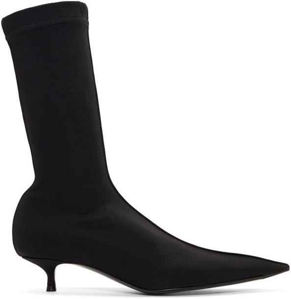 Balenciaga heel sock boots black shoes