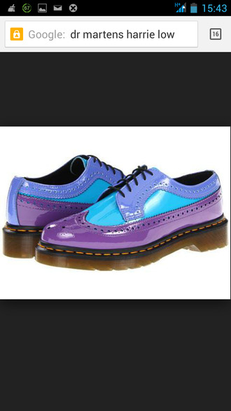drmartens brogues harries blue and purple