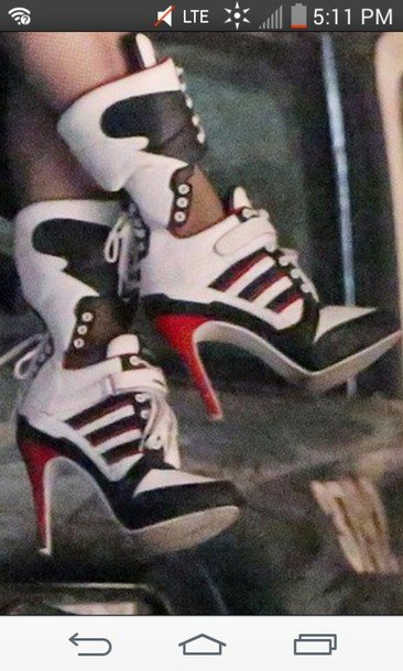 d52f2fb308dd shoes harley quinn sneakers sneakers sneaker heels lace up heels lace up sneaker  heels punk white