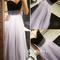 A-line sweetheart neck tulle light purple long prom dresses, formal dress - 24prom