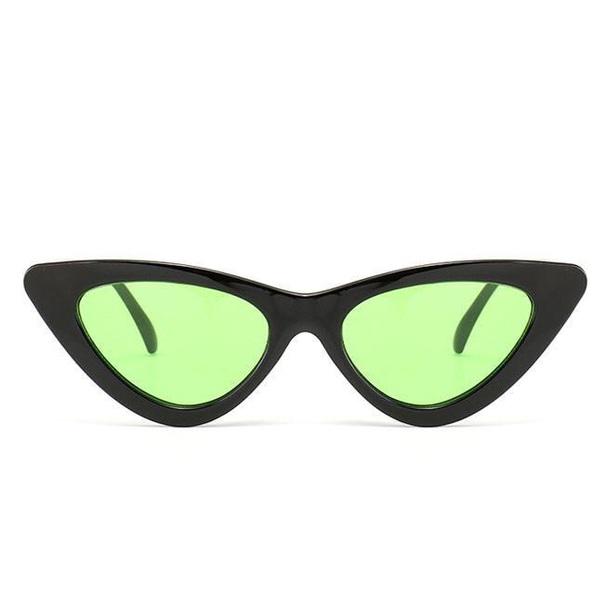 sunglasses black green