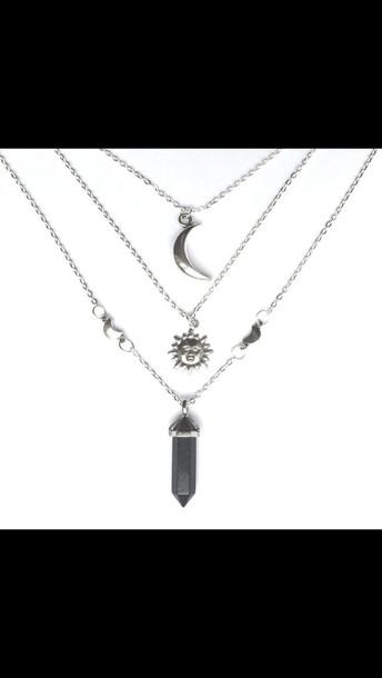 jewels moon sun necklace