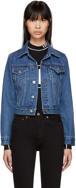 Re-done jacket denim classic blue