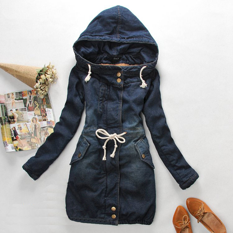 Aliexpress.com : Buy Denim Jacket Women's parka Winter Korean Slim Denim long Thick Warm Cotton Jacket Long sleeve Coat Ladies Outwear Free Shipping from Reliable jacket insulation suppliers on 1001 Lucky Girl