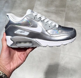 shoes nike air air max free runs trainers sneakers nike black pink nike shoes grunge silver foil silver nike air maxes 90 nike air maxes