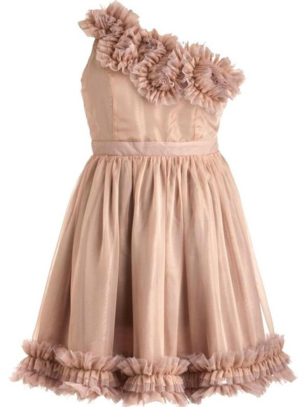 dress beige dress fleur de frills dress