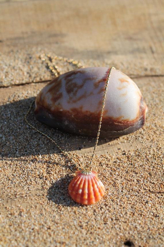 Handmade maui sunrise shell necklace by wearefish on etsy