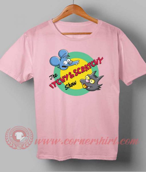 The Itchy and Scratchy & Poochie Show T-shirt | cornershirt.com