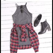 grunge,dress,sexy dress,fashion,summer dress,glamour,black,white dress,bodycon dress,mini,mini dress,grey,bodycon,high neck,grey dress,grunge dress,scrappy,cute,flannel,shirt,red,blue,sunglasses,boots,shoes,grey top,tank top,flannel jacket,style,outfit,casual,short,blouse,short dress,t-shirt dress,plaid