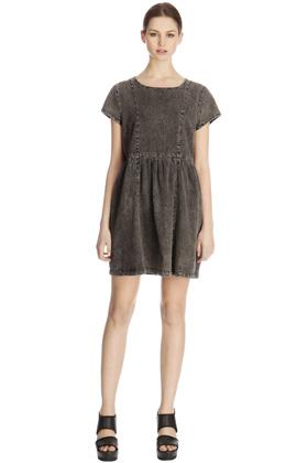 Kleider | Grau T-Shirt-Etuikleid | Damenmode | Warehouse