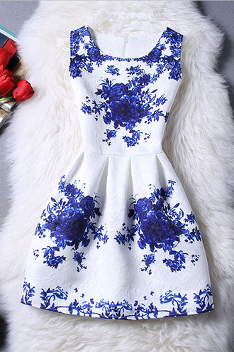 dress dressfo embroidered boho style chic sleeveless skater dress