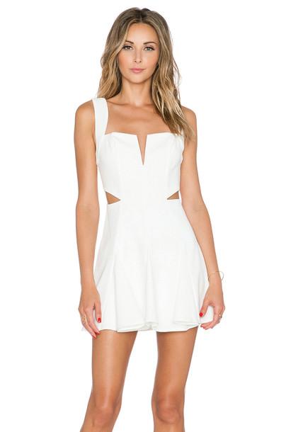 NBD dress flare dress flare fit white