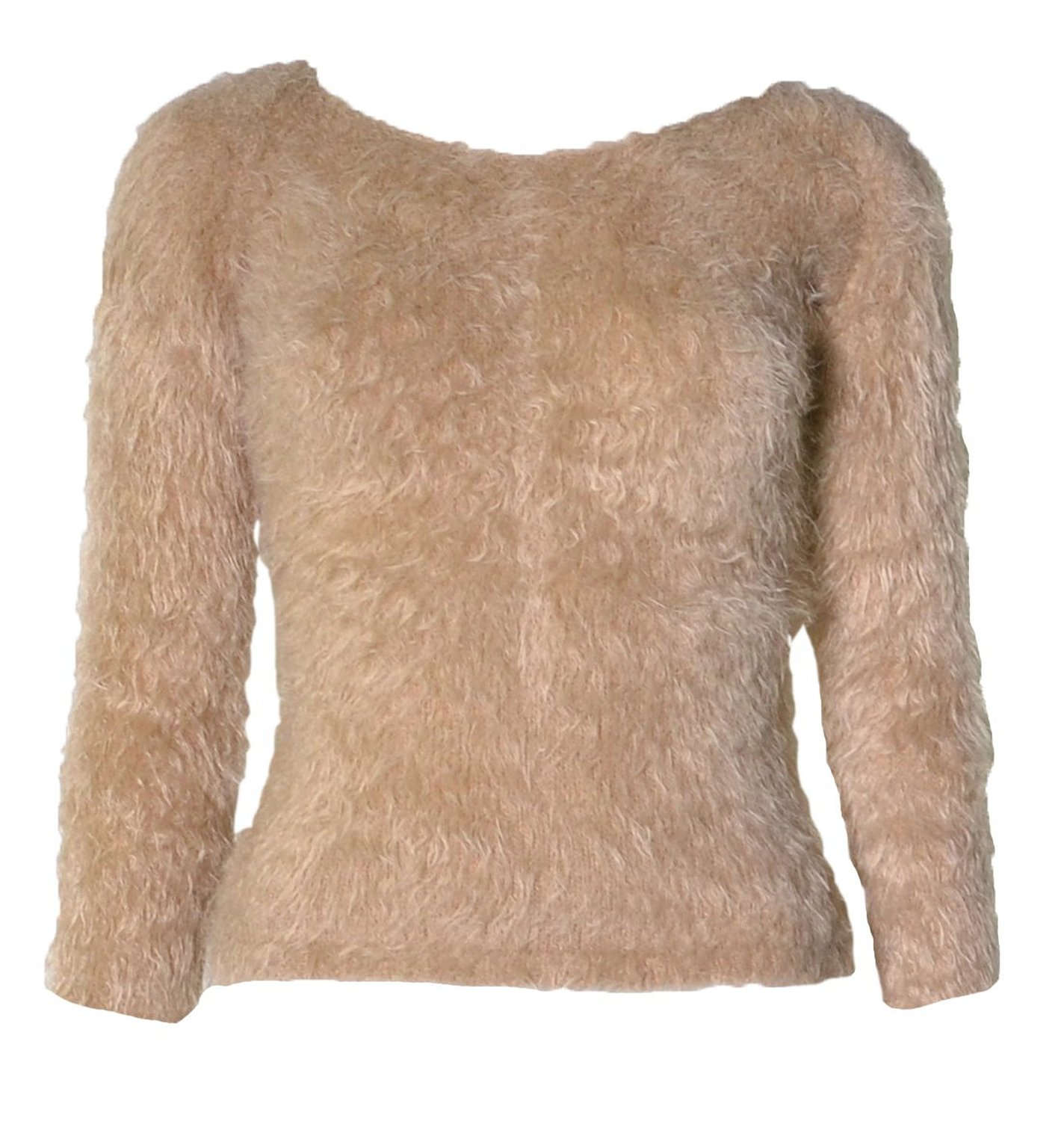 Amazon.com: womens long sleeved fluffy jumper (mtc): clothing