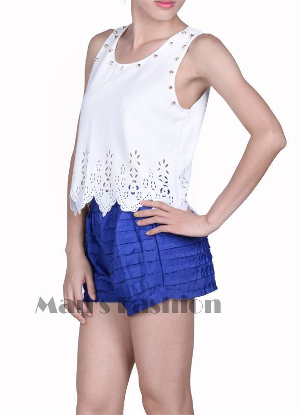 2014 Summer Sexy Women Floral Lace Cutout Rivets Short Crop Tops Vintage Lace Tank Top Blouse Shirt Roupas Femininas b8 SV003652-in Tank Tops from Women's Clothing & Accessories on Aliexpress.com | Alibaba Group