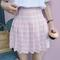 Pleated pastel skirt