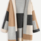 Color block drop shoulder open front sweater coat -shein(sheinside)