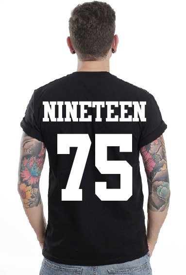 The nineteen 75 pocket tshirt