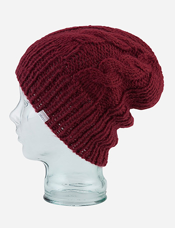 Coal Parks Cable Beanie Hat - Burgundy