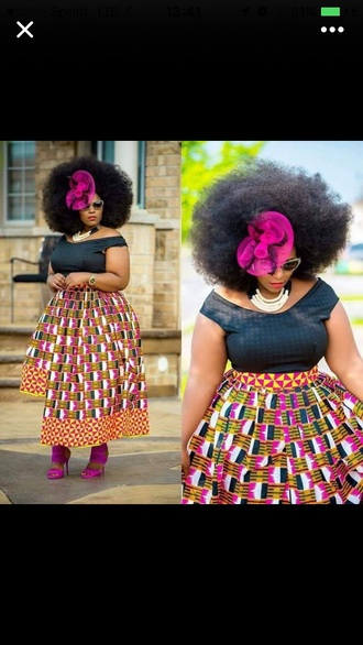 skirt multicolor midi skirt african american