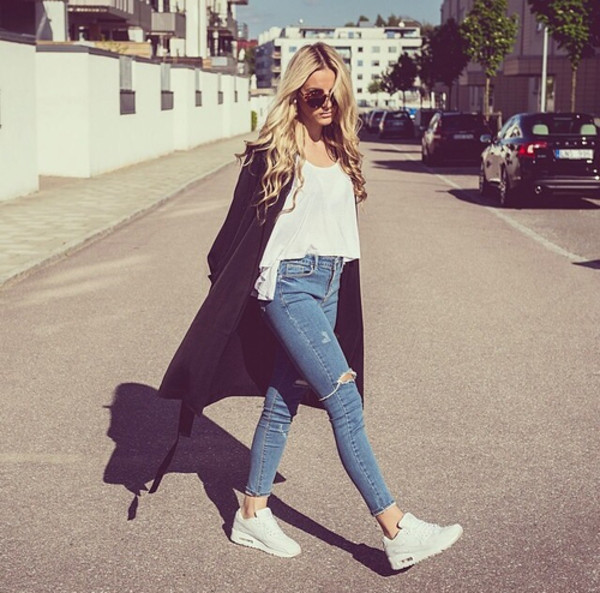 jeans cardigan shoes nike air max girl cool sunglasses swag summer