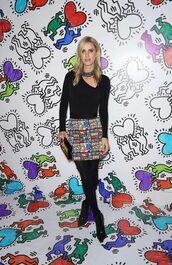 skirt,top,long sleeves,tights,mini skirt,nicky hilton,celebrity