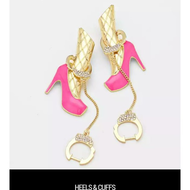 jewels shoes earrings handcuffs trendy fashion jewelry