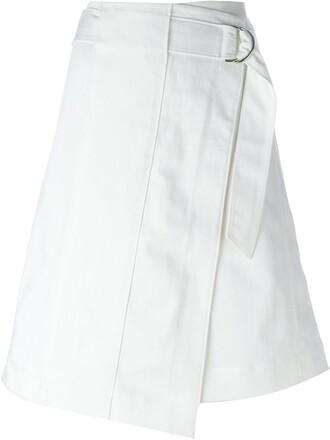 skirt wrap skirt white