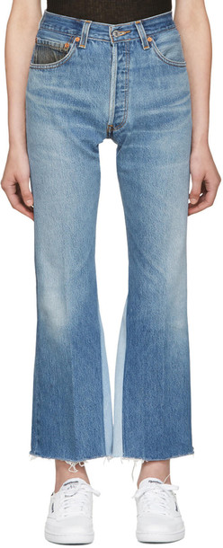 Re-done jeans blue