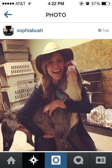 sophia bush hat floppy hat boho hippie chic hippie indie