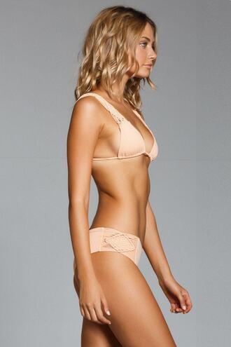 swimwear bikini bottoms cheeky crochet tan bikiniluxe