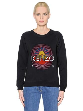 sweatshirt sun cotton black sweater