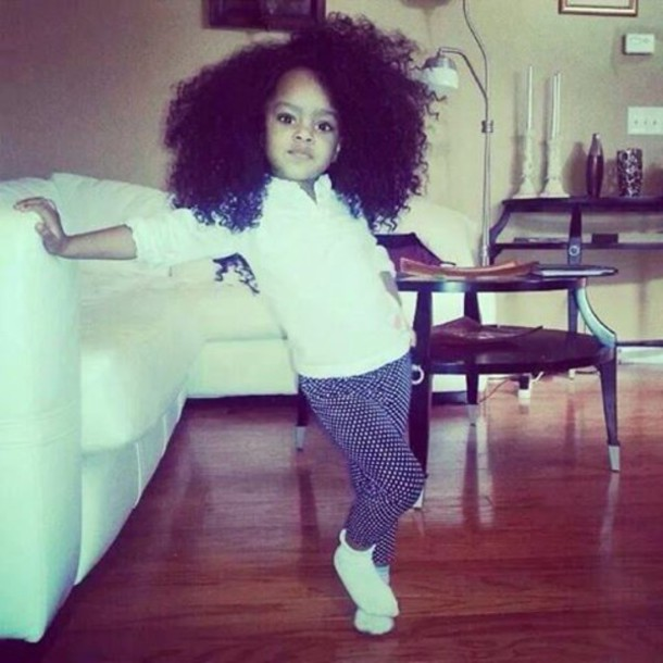 Jeans: curly hair, sweet, girl, swag, little girl, i like - Wheretoget