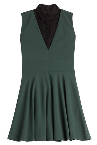 dress lace green