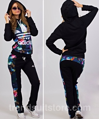 pants adidas adidas jacket adidas pants black pants sportswear hoodie colorful adidas hoodie hat jacket make-up jumpsuit