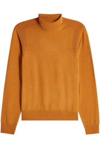 turtleneck wool camel sweater