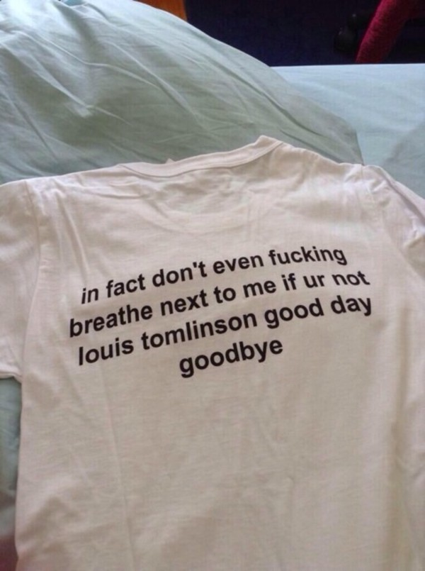 shirt louis tomlinson shirt louis tomlinson one direction tees funny shirt one direction one direction tees t-shirt
