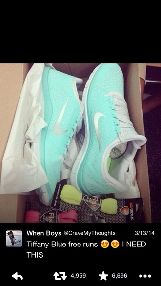 turquoise mint size 8 women's nike free run