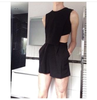shirt black shorts tank top black top black shirt black t-shirt shorts
