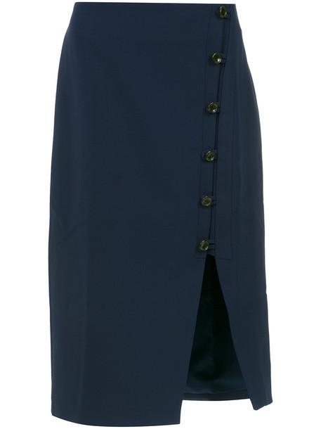 EGREY skirt midi skirt women midi cotton blue