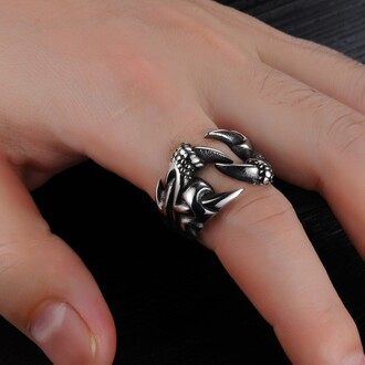 jewels mens ring men's titanium steel ring claw shaped ring evolees.com mens shoes