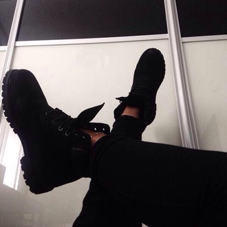 shoes boots black timberland tumblr hipster cute suede indie pretty black shoes black boots ankle boots grunge timberlands black timberlands