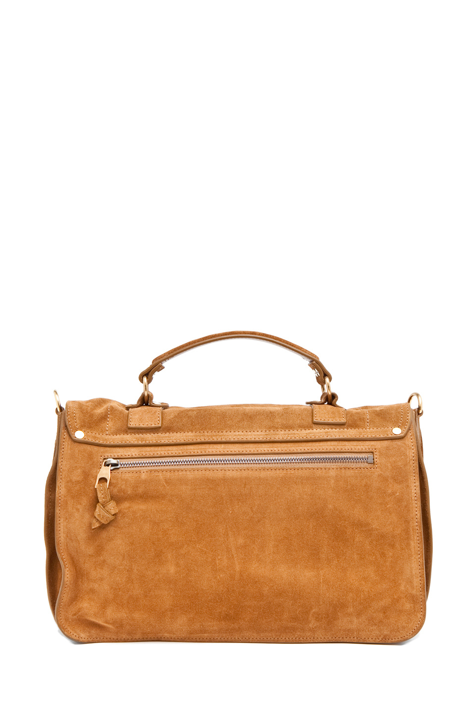 Proenza Schouler|Medium PS1 Suede Satchel in Tobacco