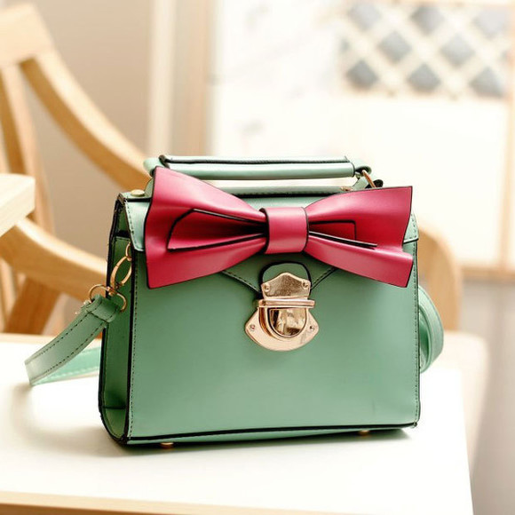 bag handbag crossbady bowknot