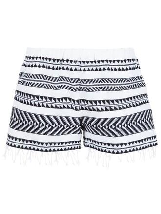shorts embellished white